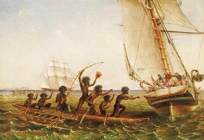 Perahu Suku Aborigin