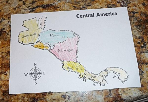 Gambar Peta Amerika Tengah