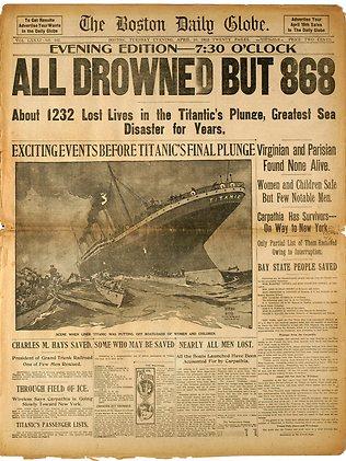 Koran yang Memuat Berita Tenggelamnya Titanic