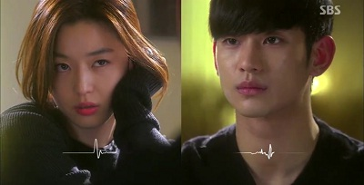 Gambar adegan Cheon Song-yi menggoda Do Min-joon