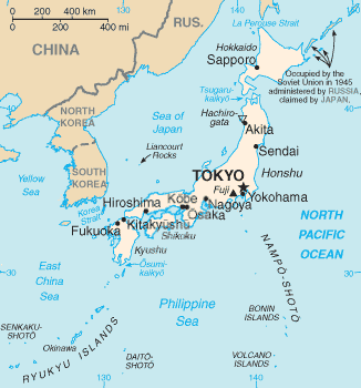 Gambar Peta Politik Jepang