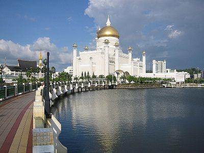 Foto masjid di negara Brunei
