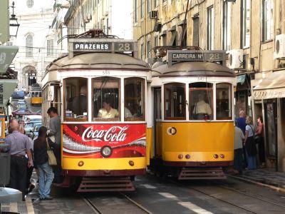 Foto trem di kota Lisbon