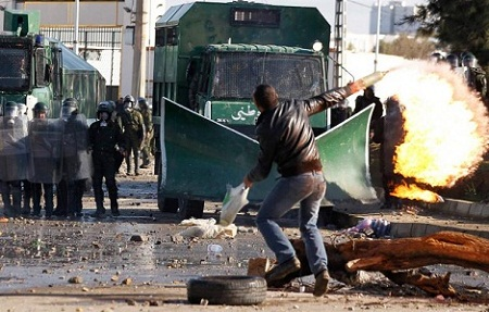Gambar Kerusuhan di Aljazair