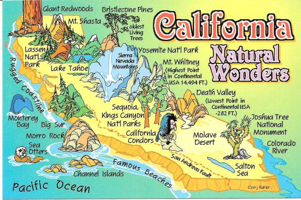 Peta unik California