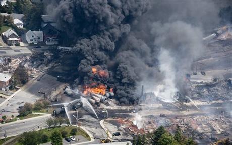 Foto kecelakaan kereta api Kanada