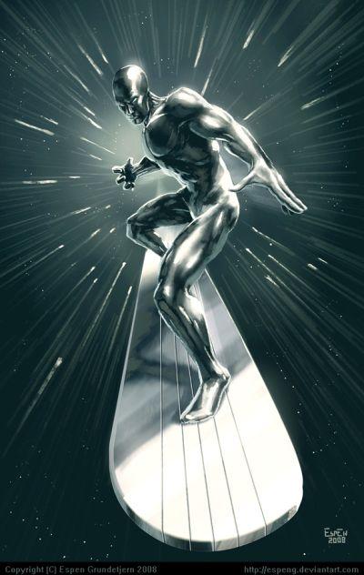 Foto superhero Silver Surfer