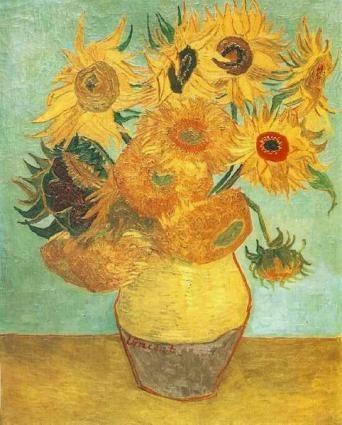 Lukisan bunga matahari van gogh