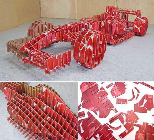 Mobil F1 dari kotak sepatu