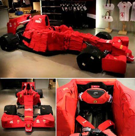 Mobil F1 dari pakaian Puma
