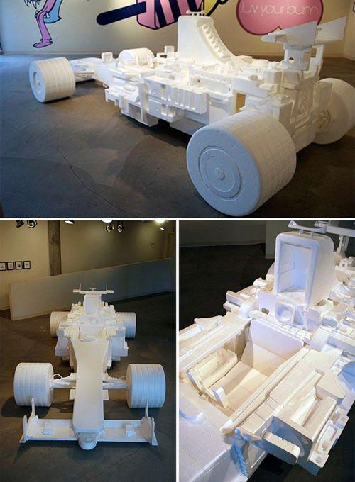Mobil F1 dari Styrofoam