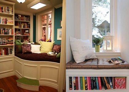 Perpustakaan kecil di sudut rumah