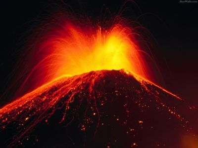 Foto letusan gunung Tambora