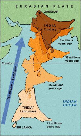 Peta Gerakan Tanah India Jutaan Tahun Lalu