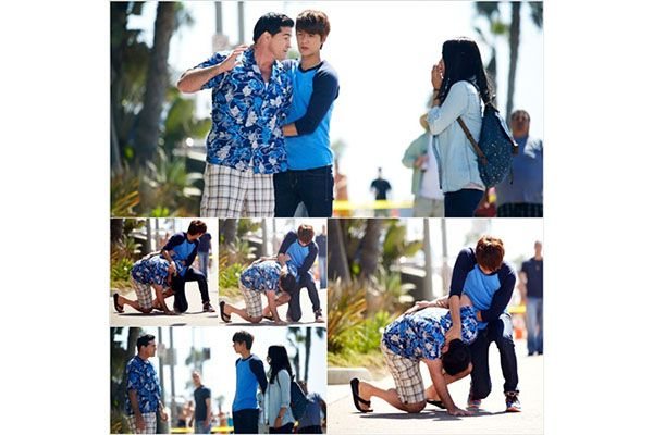 Adegan Lee Min-ho dan Park Shin-hye di pantai Amerika